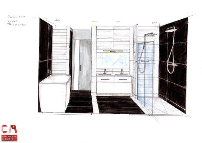 Perspective Salle de bain parentale
