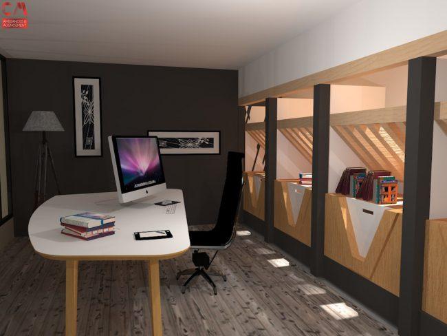 Rendu 3D Bureau