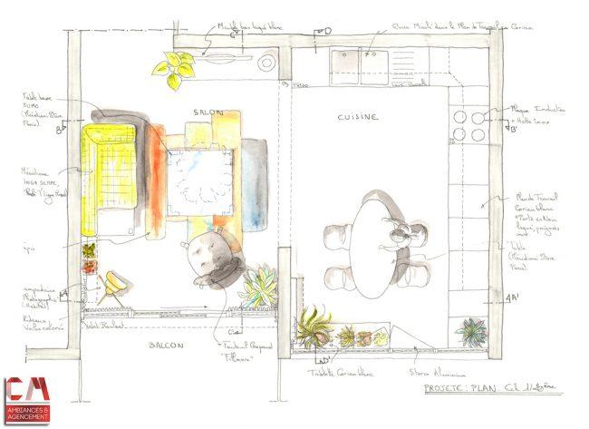Plan dessin main projet