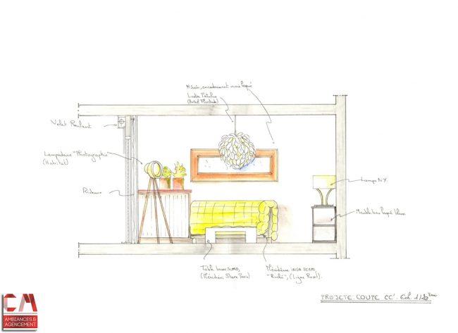 Elevation dessin main projet