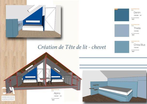 Tete de lit Planche tendance Chambres V2