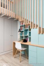 bureau créé sous escalier,Womdesign,cotemaison