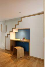 bureau sous escalier, olivier olindo architecte